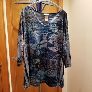 EUC Catherines 2X Bling Top
